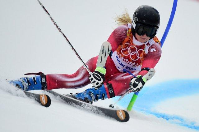 Lara Gut... (Photo Fabrice Coffrini, AFP)