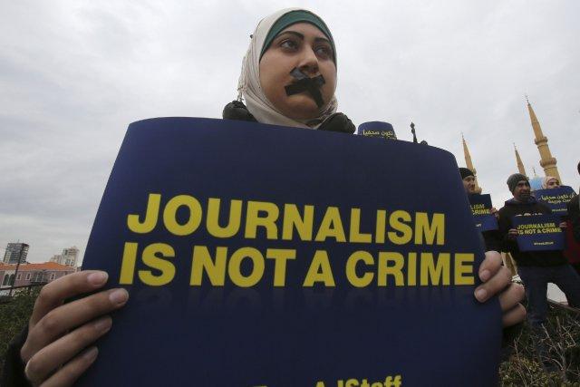 Al-Jazeera compte par cette journée d'action «faire pression... (Photo SHARIF KARIM, Reuters)