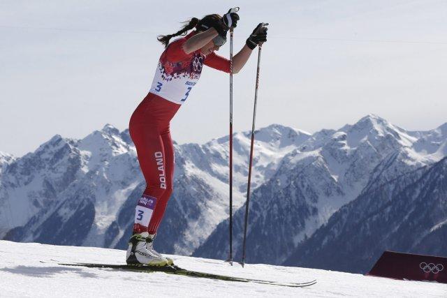 La Polonaise Justyna Kowalczyk a remporté la médaille... (Photo Matthias Schrader, AP)
