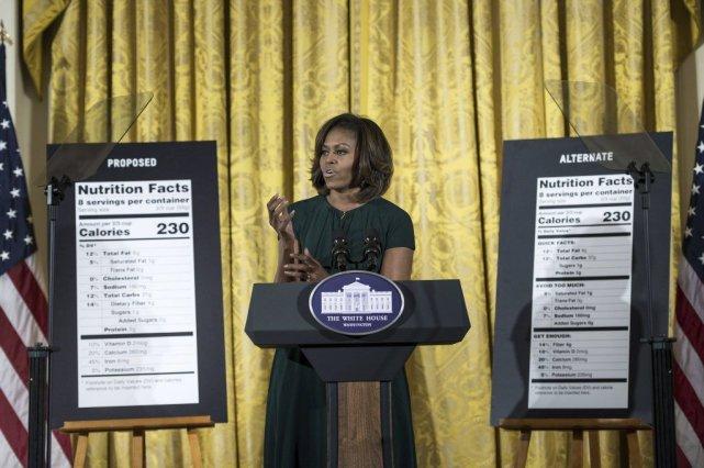 La première dame des États-Unis, Michelle Obama.... (Photo Brendan Smialowski, AFP)