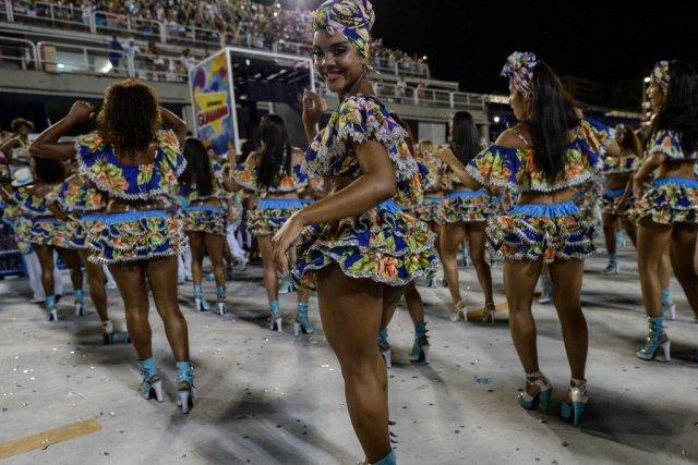 Même si le Carnaval ne commence officiellement que... (Photo YASUYOSHI CHIBA, AFP)