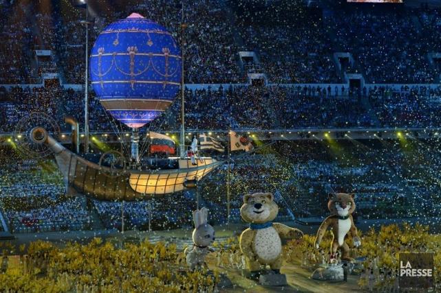 La cérémonie de clôture des Jeux de Sotchi.... (Photo Bernard Brault, La Presse)