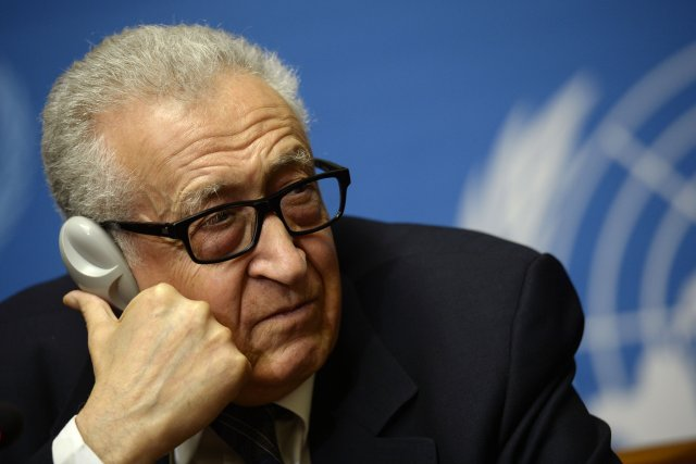 Lakhdar Brahimi... (PHOTO PHILIPPE DESMAZES, AFP)
