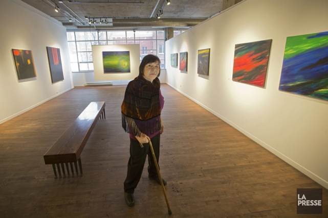 La peintre Rita Letendre n'aime pas l'idée du... (Photo Ivanoh Demers, La Presse)