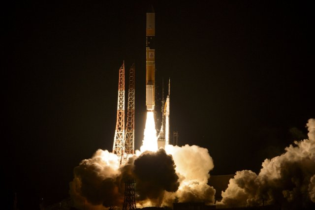 Le lanceur est parti comme programmé vendredi matin... (Photo fournie par la NASA)