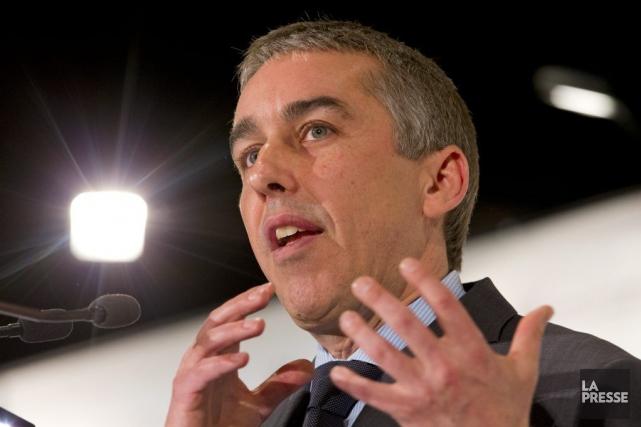 Nicolas Marceau aprésenté son budget à des membres... (PHOTO ALAIN ROBERGE, ARCHIVES LA PRESSE)