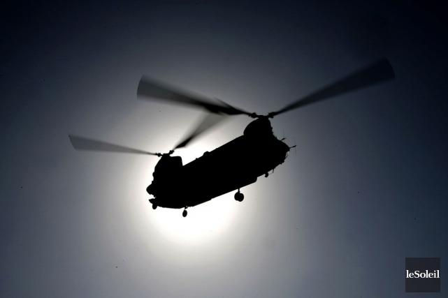 L'écrasement de l'hélicoptère Chinook, le6 août 2011, en... (Photothèque Le Soleil, AFP)