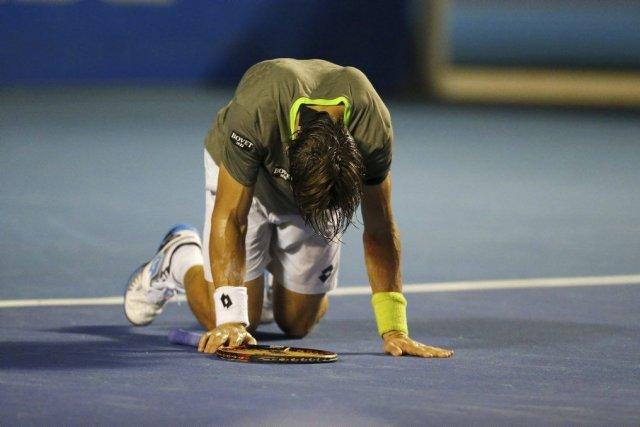 La première tête de série David Ferrer a dû concéder la victoire à son... (Photo AFP)