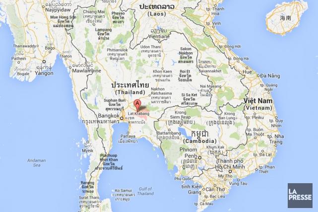 L'accident s'est produit dans la province dePrachinburi, en... (Carte Google)