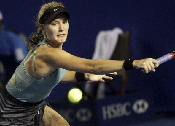 Eugenie Bouchard lors d'un match précédent à Acapulco... (Photo Pedro PARDO, AFP)