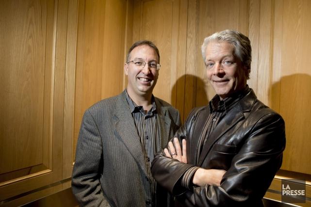 Normand Mousseau (à gauche) et Roger Lanoue sont... (PHOTO ALAIN ROBERGE, ARCHIVES LA PRESSE)