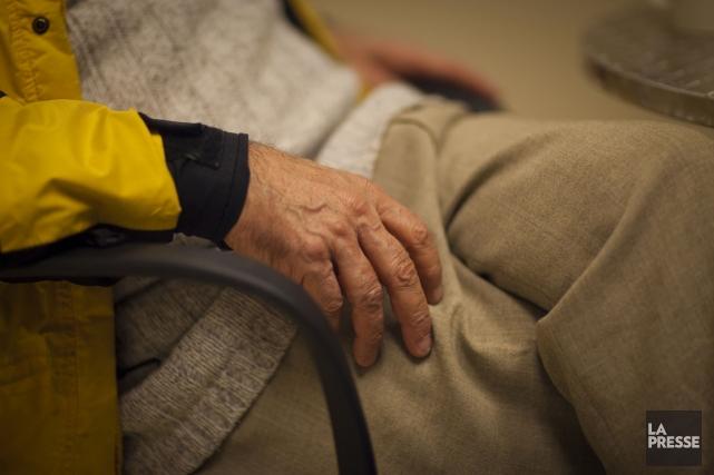 Plusieurs représentants d'organismes dédiés aux aînés ont tenu un... (Photo archives La Presse)
