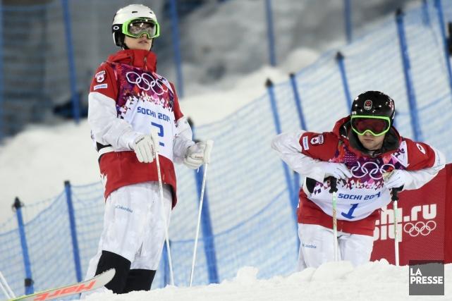 Après leur expérience olympique, Mikaël Kingsbury et Alexandre... (Photo Bernard Brault, La Presse)