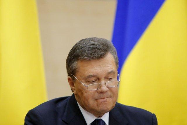 Viktor Ianoukovitchlors d'une conférence de presse à Rostov-sur-le-Don,... (PHOTO MAXIM SHEMETOV, REUTERS)