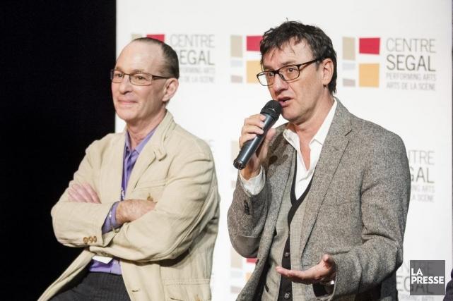 Le producteur de la pièce Allan Sandler et... (Photo Edouard Plante-Fréchette, La Presse)
