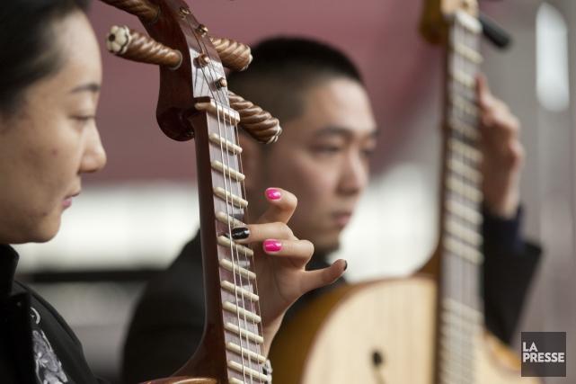 Des musiciens de la troupe.... (Photo Ivanoh Demers, La Presse)
