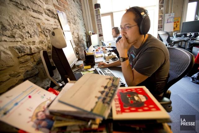Dans les bureaux design de Stingray, des dizaines... (Photo Alain Roberge, La Presse)