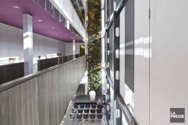 Vue intérieure de la maison de développement durable.... (Photo Édouard Plante-Fréchette, archives La Presse)
