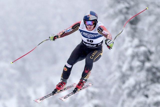 Erik Guay a remporté sa deuxième victoire de... (PHOTO DANIEL SANNUM LAUTEN, AFP)
