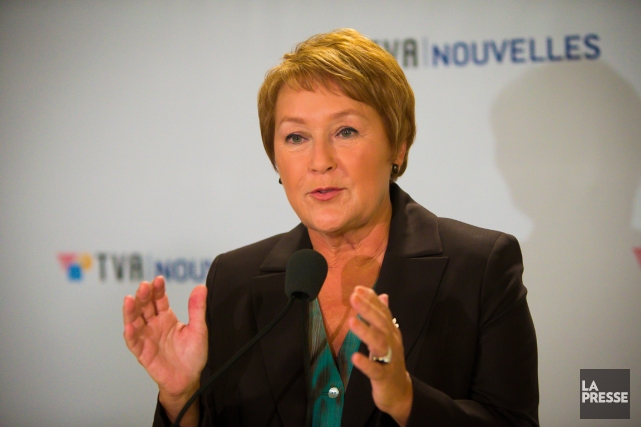 La chef péquiste Pauline Marois à l'issue de... (PHOTO ANDRÉ PICHETTE, ARCHIVES LA PRESSE)