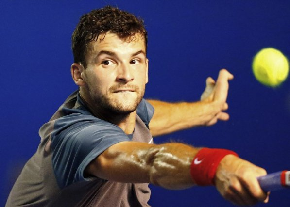 Grigor Drimitrov a causé une surprise en gagnant... (Photo Pedro PARDO, AFP)