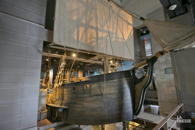 Ce bateau long de 65 pi, pièce maîtresse... (Photo Hugo-Sébastien Aubert, La Presse)