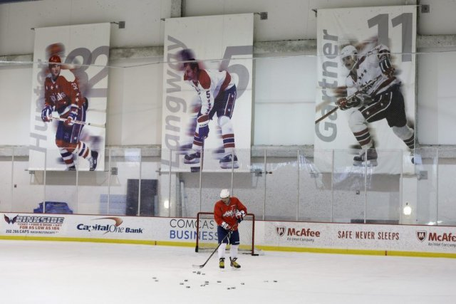 Le capitaine des Washington Capitals Alex Ovechkin.... (Photo Carolyn Kaster, AP)
