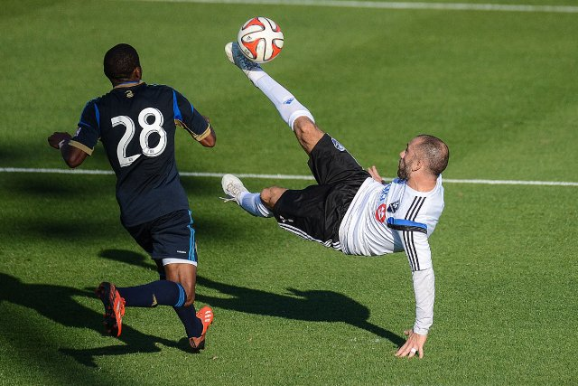 Marco Di Vaio dirige un tir vers le... (Photo Jonathan Dyer, USA Today)