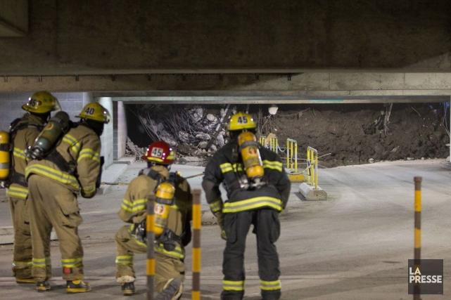 Une poutre de béton s'effondre dans le stationnement... (ARCHIVES, La Presse)