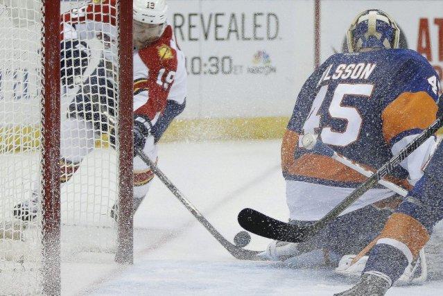 Scottie Upshall a marqué deux des quatre buts des Panthers de la Floride en... (Photo: AP)