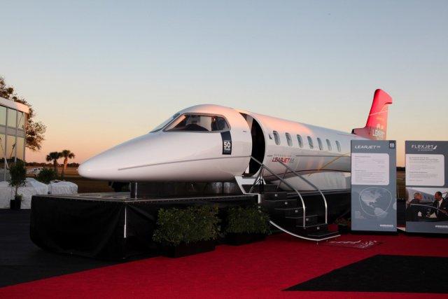 Le premier avion d'essai Learjet 85, dont le... (PHOTO JASON TINACCI, FOURNIE PAR TINACCIPHOTO.COM)