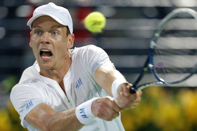 Tomas Berdych a atteint la finale du tournoi... (Photo Karim Sahib, AFP)