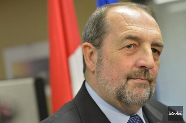Le ministre fédéral de l'Infrastructure, Denis Lebel.... (Photo Yan Doublet, Le Soleil)