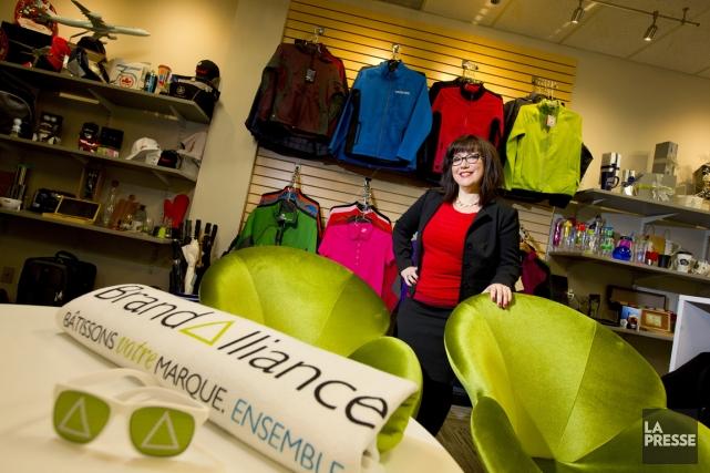 Valérie Duchesne-Carle est présidente Québec de BrandAlliance depuis... (PHOTO ALAIN ROBERGE, LA PRESSE)
