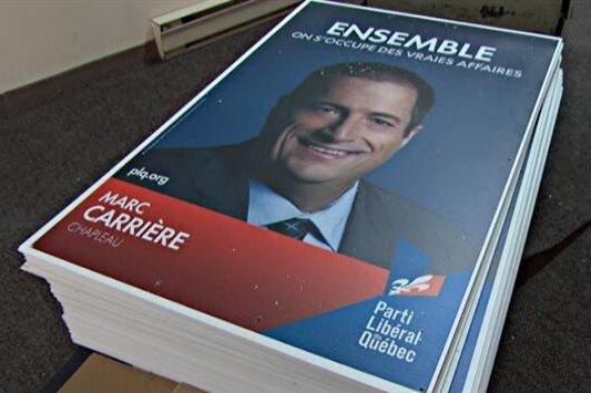 Le Parti libéral du Québec (PLQ) a choisi un slogan au ton familier pour la... (Photo Radio-Canada)