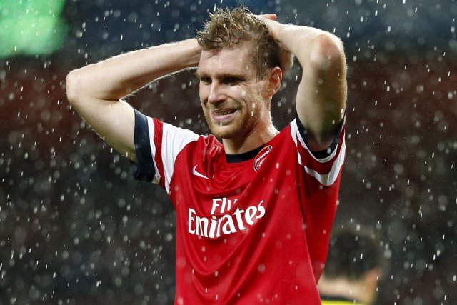 Le défenseur allemand d'Arsenal Per Mertesacker.... (Photo Eddie Keogh, Reuters)