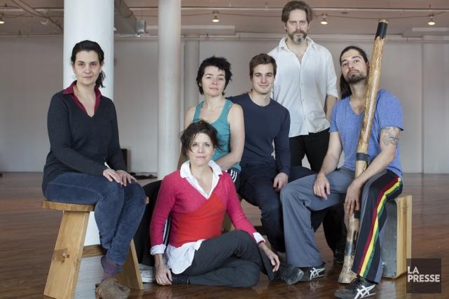 Les artistes de Chantiers de vie (de gauche... (Photo: Édouard Plante-Fréchette, La Presse)