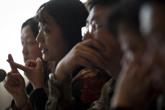 Durant la conférence de presse à Pékin, 10... (Photo Andy Wong, AP)