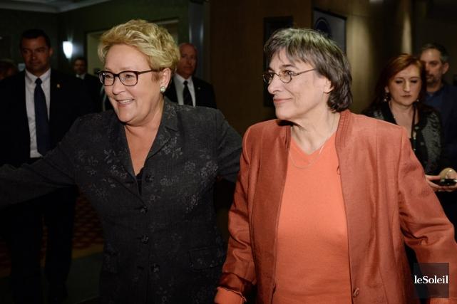 La première ministre Pauline Marois a participé mardi... (Photo: Le Soleil)