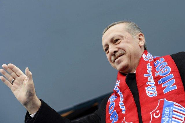 Sûr de lui, M.Erdogan a affirmé que la... (PHOTO KAYHAN OZER, REUTERS/BUREAU DU PREMIER MINISTRE)