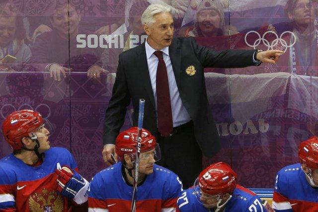 L'entraîneur de l'équipe de hockey de la Russie,... (Photo Grigory Dukor, Reuters)