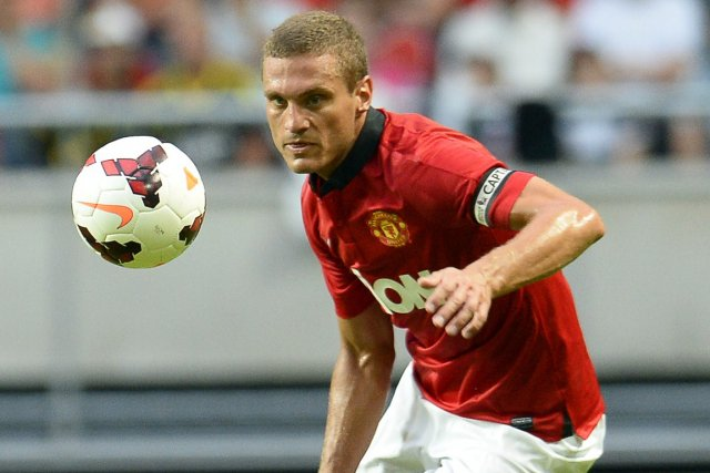 Le défenseur serbe de Manchester United Nemanja Vidic.... (Photo Jonathan Nackstrand, AFP)