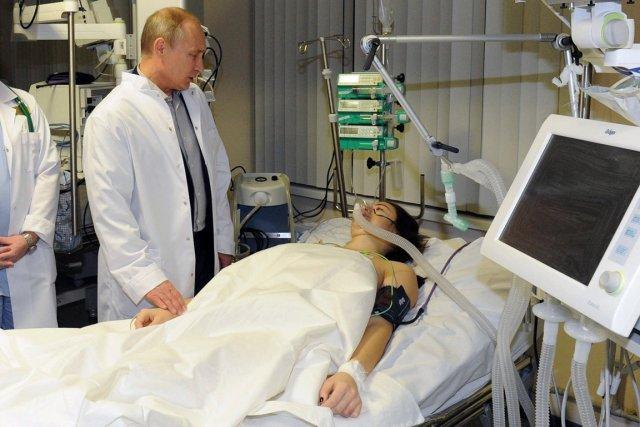 Le président russe Vladimir Poutine avait rendu visite... (Photo AP)