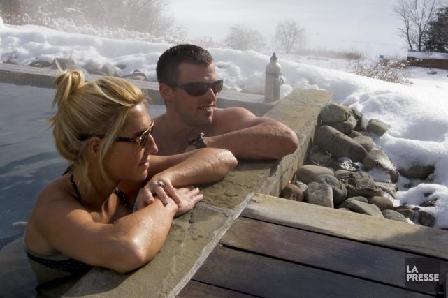 L'effort avant la détente? C'est le concept mis de l'avant au spa Balnea, où... (PHOTO ALAIN ROBERGE, LA PRESSE)