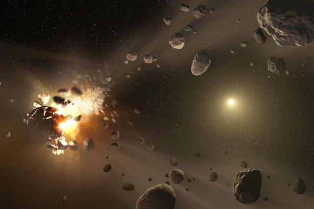 L'objet, baptisé 2014 DX110, mesure environ 30 mètres... (PHOTO ARCHIVES AFP/NASA)