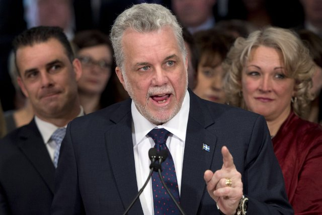 Le chef libéral, Philippe Couillard... (Photo Ryan Remiorz, La Presse Canadienne)