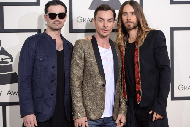 Le groupe 30 Seconds to Mars... (Photo: archives AFP)
