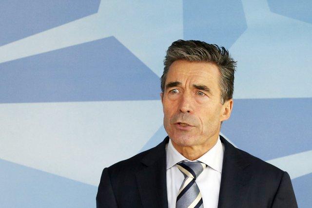 Le secrétaire général de l'OTAN, Anders Fogh Rasmussen.... (PHOTO YVES HERMAN, REUTERS)