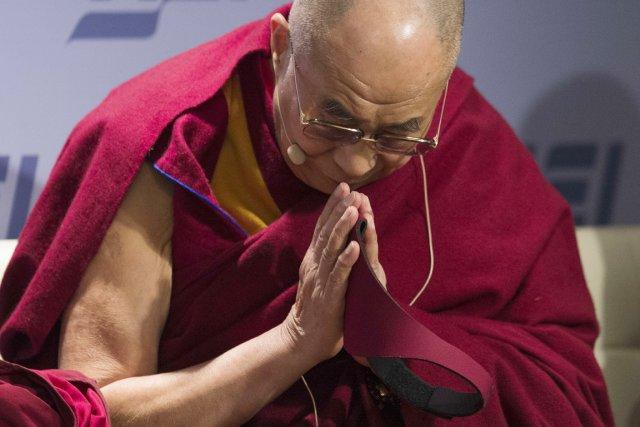 Le chef spirituel tibétain est populaire dans la... (PHOTO JIM WATSON, ARCHIVES AFP)