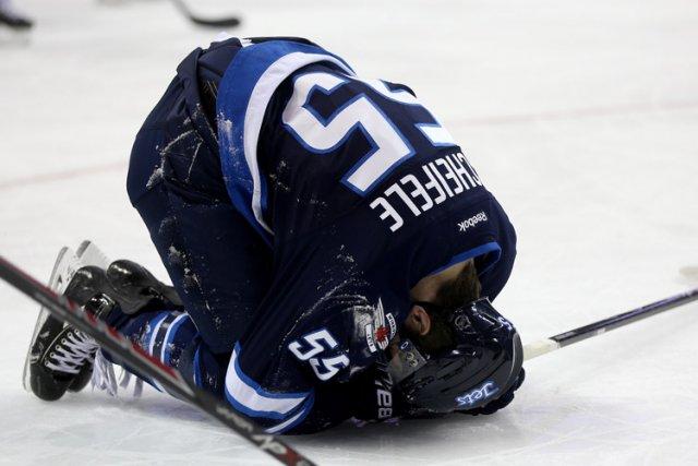 Scheifele a été victime d'une blessure ligamentaire mardi.... (Photo: PC)